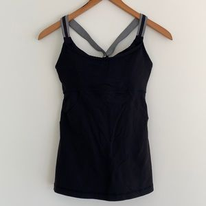 lululemon Cross My Heart Tank Built-in Bra Sz6